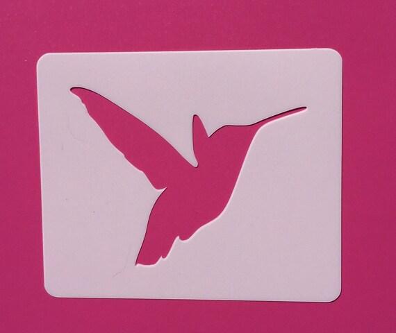 hummingbird reusable stencil hummingbird template for etsy