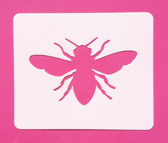 bee stencil reusable bee stencil bee template mylar bee etsy