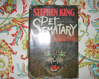 Pet Sematary by Stephen King 1st Ed.
