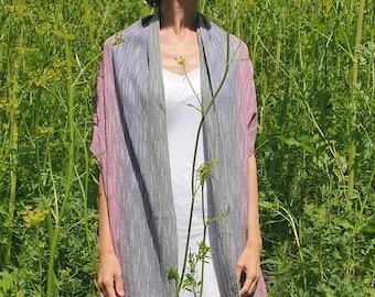 Scarf 0807/ Handmade Scarf/ Loom Woven Accessory