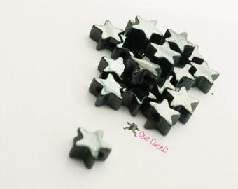 10 étoiles d'Hématite de 4 mm pour fabriquer des bijoux.