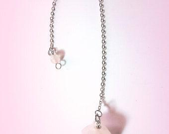 Pendule Quartz rose de 4 x 2 cm