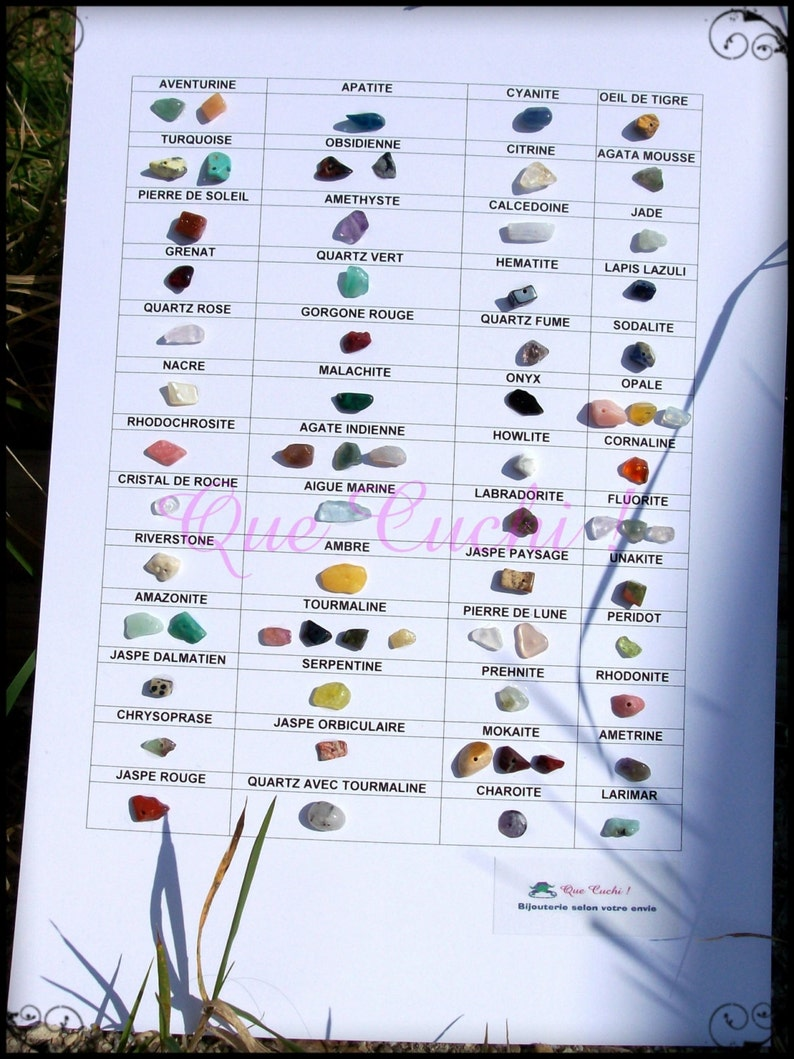 Table with real gemstones. image 0