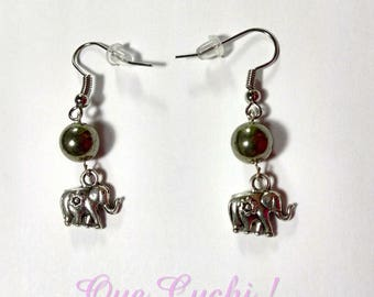 Pyrite earrings with a charm to choose