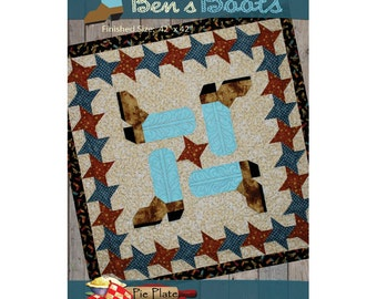 Ben's Boots quilt pattern by Pie Plate Patterns