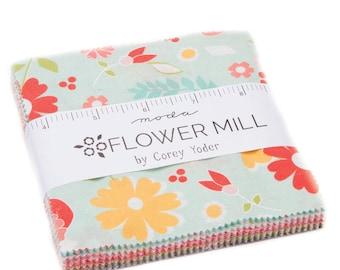 Flower Mill Charm Pack by Corey Yoder, Little Miss Shabby for Moda Fabrics 29030PP