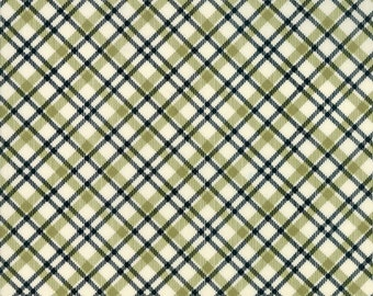 Overnight Delivery Plaid Green - Black 5708-12 by Sweetwater for Moda Fabrics