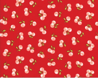 The Good Life Cherries in Red Yardage SKU# 55158-11 The Good Life by Bonnie & Camille for Moda Fabrics