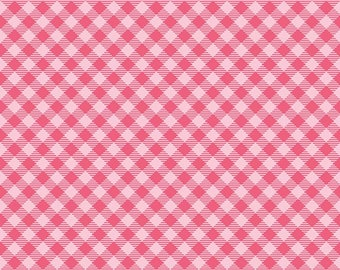 Bee Basics Gingham Raspberry Yardage - C6400-RASPBERRY by Lori Holt of A Bee in My Bonnet for Riley Blake Designs