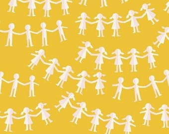 Kinder Yellow Paper Doll 43485-11 Fabric, cotton, Windham, Heather Ross