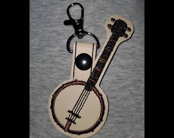 Painted Banjo Keychain