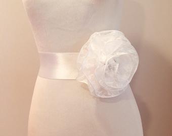 Brocade bridal sashes