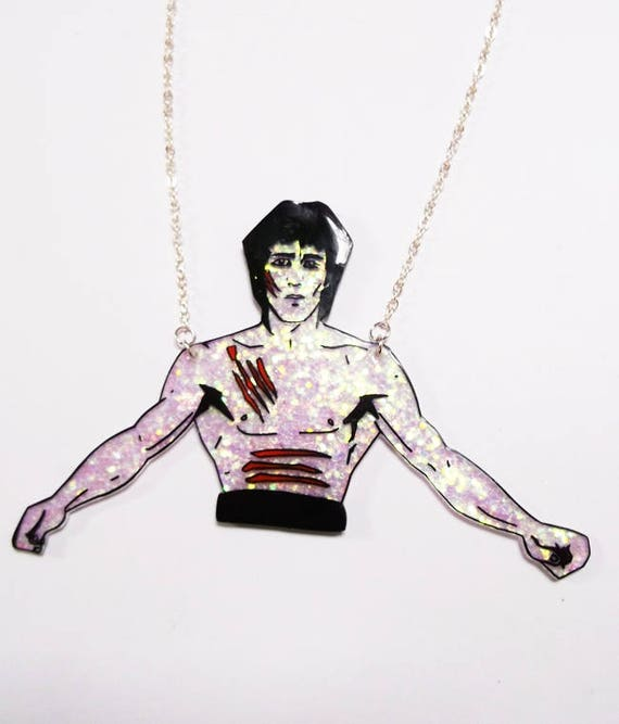 ed173313a5e128 Bruce Lee Enter the Dragon glittery statement necklace