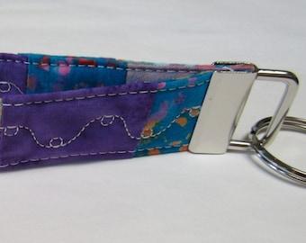 Key Fob - Key Wristlet  - Key Ring - Key Chain - Batik Patchwork #2