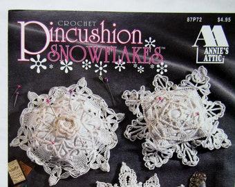 Crochet Pincushion Snowflakes - Annies Attic - 1993
