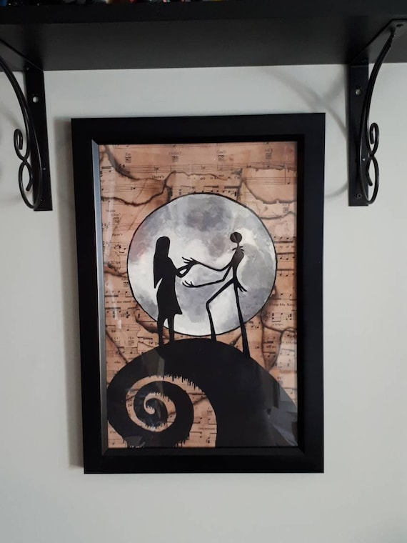 Oil Painting Home Wall Decor Jack And Sally S Love Canvas Art Print 12x16