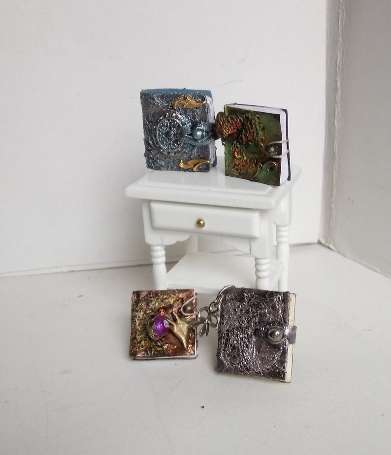 Dolls house  ,miniature,books,magic,art,plain,paper,fairy,witch,spell,jotter,scrap,album,wizard  book,fairy books