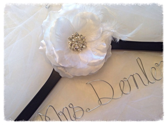 SALE Personalized LARGE Flower Wedding Hanger/ Brides Hanger/ Bride/ Name Hanger/ Wedding Hanger