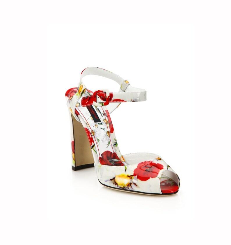 Print SandalsEtsy Dolceamp; Gabbana Leather Women's Patent Poppy MVqGzpSU