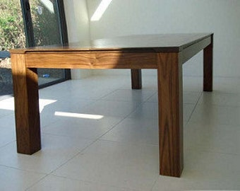 Mid Century Style Handmade Walnut Large (96u201d Long) Wooden Table.