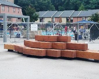 Outdoor Beam Bench