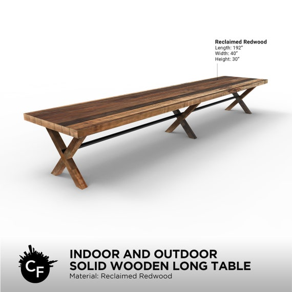 Awe Inspiring Indoor And Outdoor Solid Wooden Long Table Andrewgaddart Wooden Chair Designs For Living Room Andrewgaddartcom