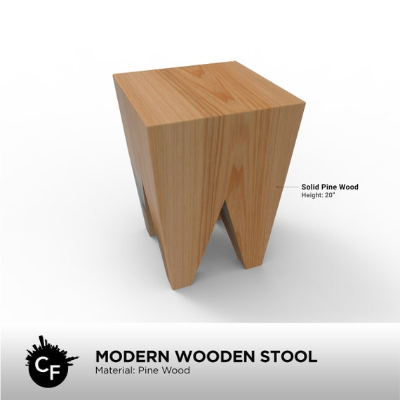 Excellent Modern Wooden Stool Camellatalisay Diy Chair Ideas Camellatalisaycom