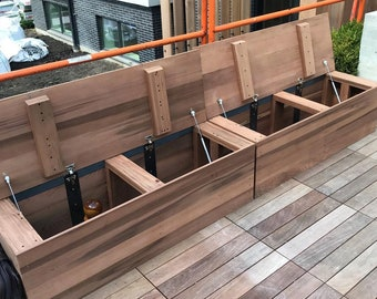 Redwood Storage Bench