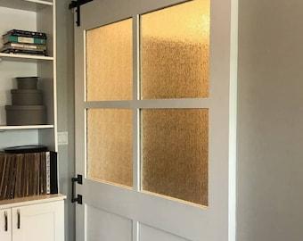 Barn Door with Rain Glass