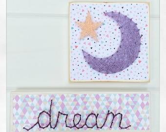 Dream string art sign, nursery sign