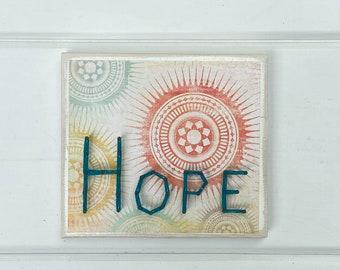 Hope string art sign