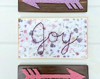 Joy string art sign