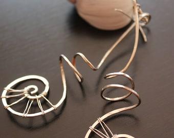 Earthy spiral earrings