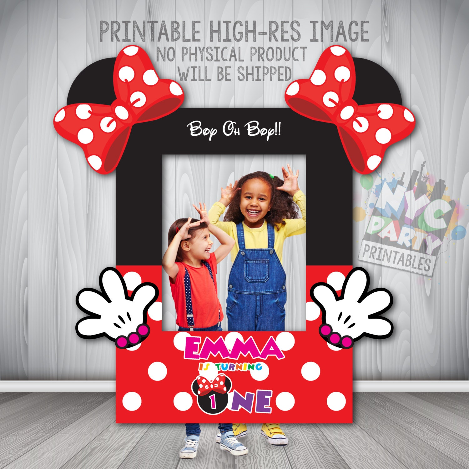 Minnie Mouse Photo Booth Rahmen Minnie Mouse Photobooth | Etsy
