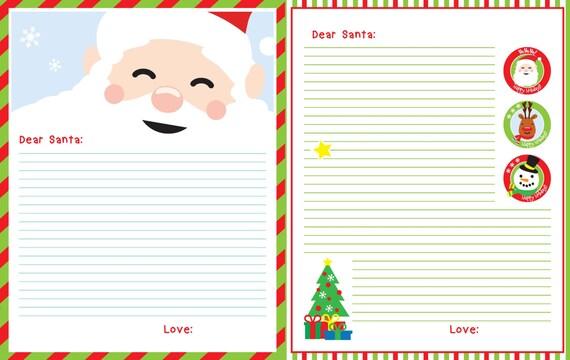 printable santa letter letter to santa free printable download pins