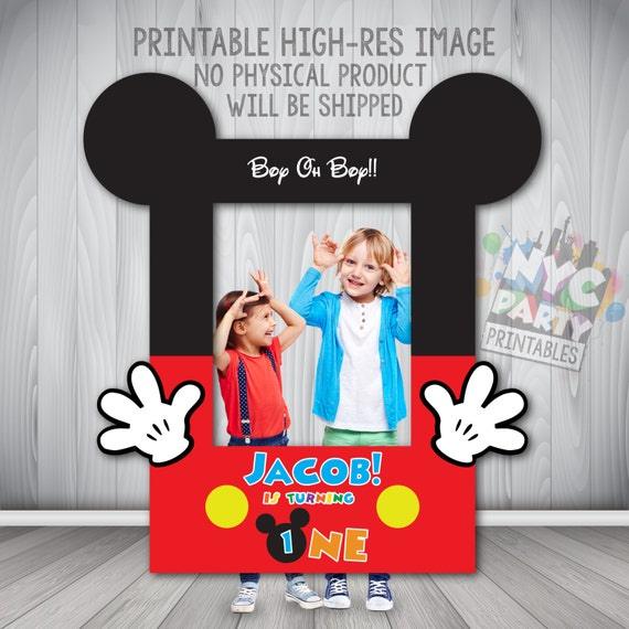 Mickey Photo Booth Frame Photo Booth Frame Printable DIY | Etsy
