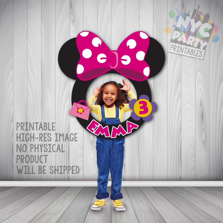 Minnie Mouse Stand Bilderrahmen Minnie Maus Party Mickey | Etsy