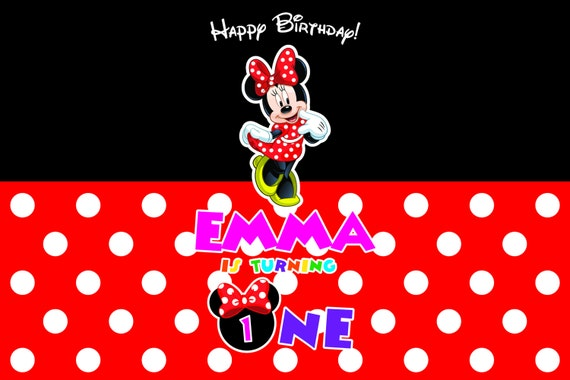Minnie Mouse Backdrop Minnie Background Printable Minnie Mouse