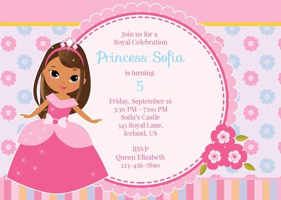 Princess birthday invitation tan princess birthday etsy princess birthday invitation tan princess birthday invitation princess invite birthday invitation filmwisefo