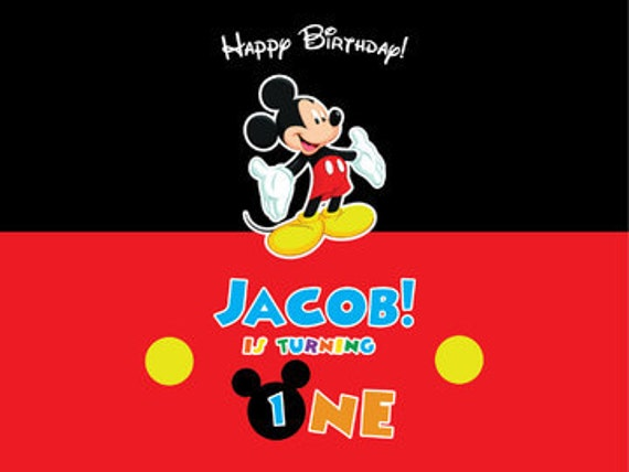 Mickey Mouse Backdrop Mickey Mouse Photo Booth Frame Printable