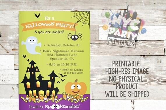 halloween invitation halloween party invite printable party etsy