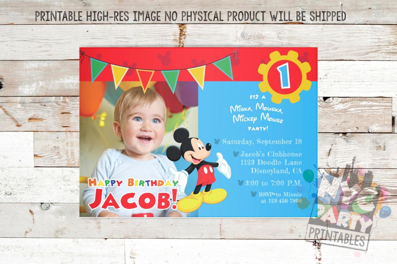 Mickey Maus Geburtstag Einladung Mickey-Mouse Geburtstag