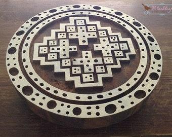Wood Block Printing Hand Carved Indian Wood Textile Block Stamp Medieval Fabric Chernigov Byzantine Motif 11th 12th century Byzantium