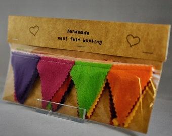 Handmade Mini Felt Bunting