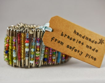 Handmade Safety Pin Bracelet