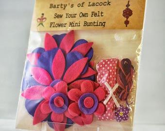 Sew Your Own Felt Mini Bunting