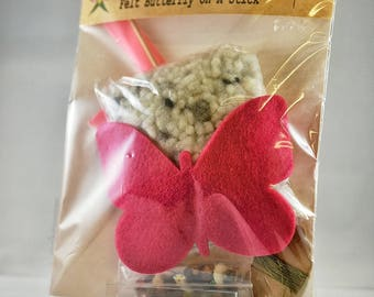 Sew Your Own Felt Butterfly On A Stick