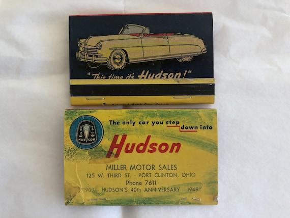 1940s / 50s HUDSON Car Matchbook LOT 2 Large Bridgeport CT ...
