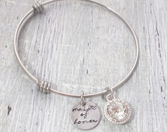 Maid Of Honor Gift, Maid Of Honor Bracelet, Custom Maid Of Honor, Personalized Maid Of Honor, Personalized Maid Of Honor Gift, Maid Of Honor