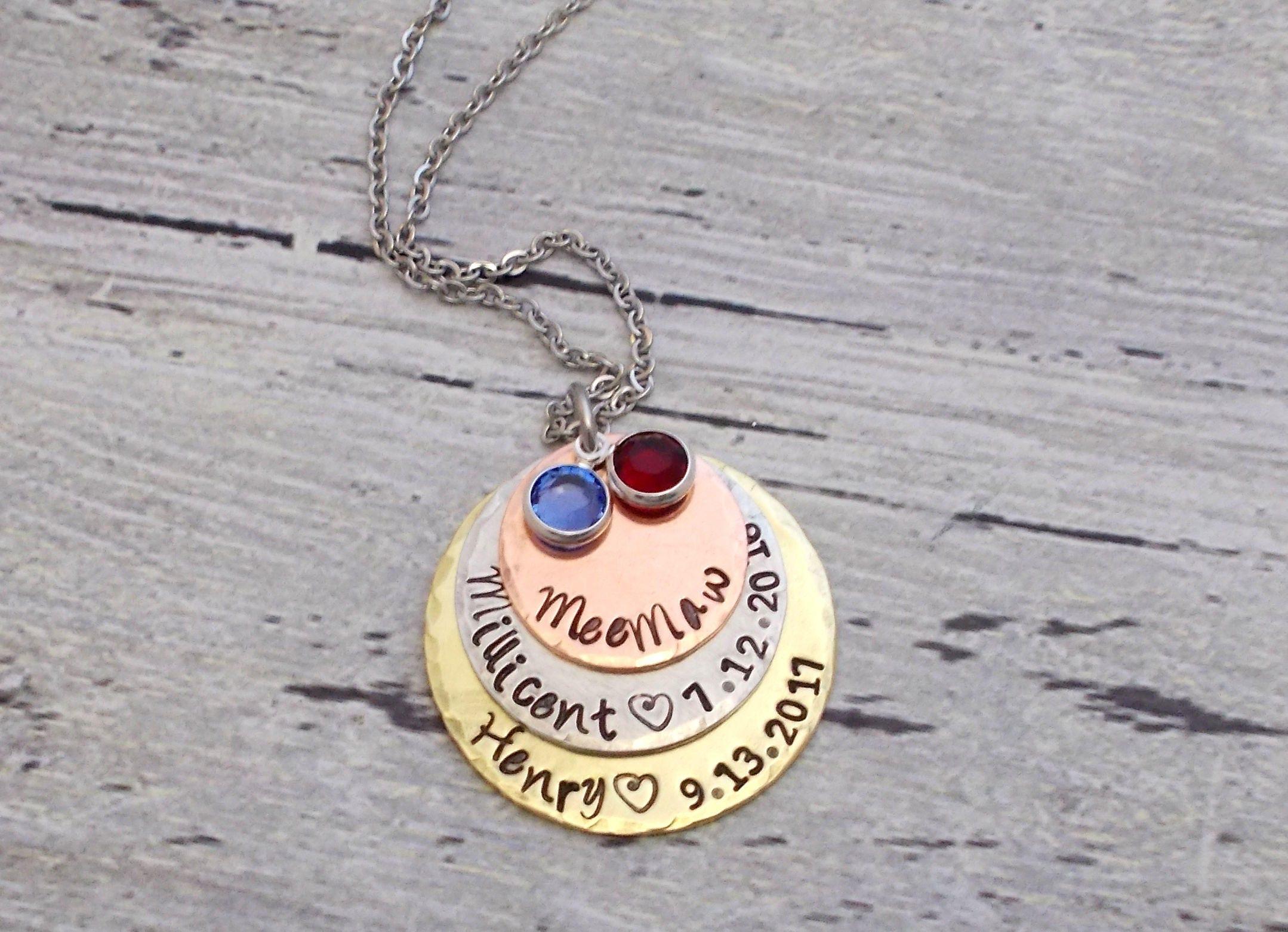 personalized grandma gift personalized grandma jewelry